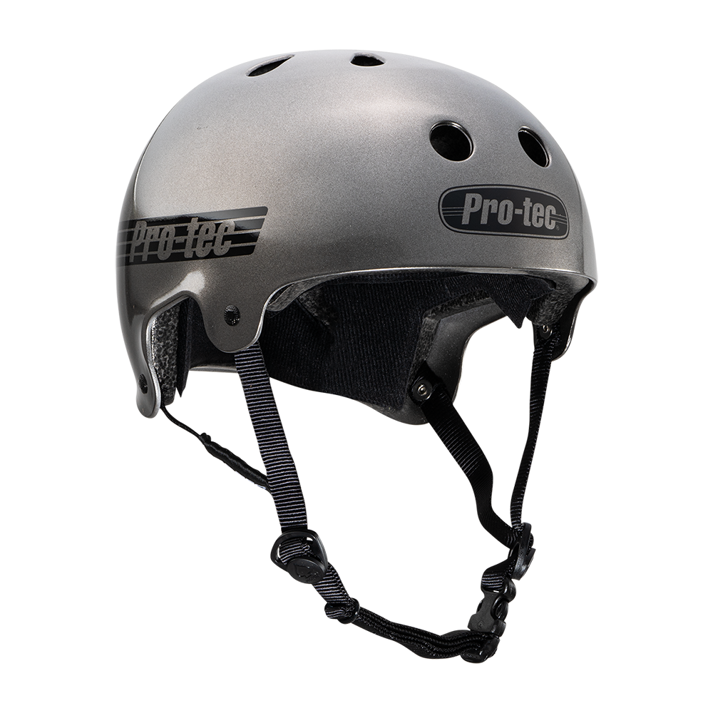 Pro-Tec Pro-tec Old School (Certified) Matte Metallic Gun Metal Small Helmet