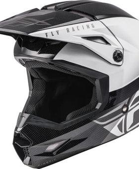 Fly Racing Fly Racing Kinetic Straight Edge Black/White Helmet