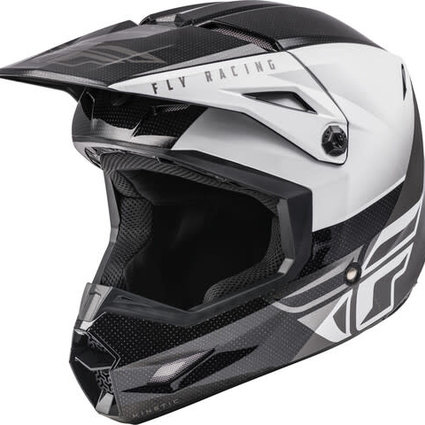 Fly Racing Fly Racing Kinetic Straight Edge Black/White Helmet