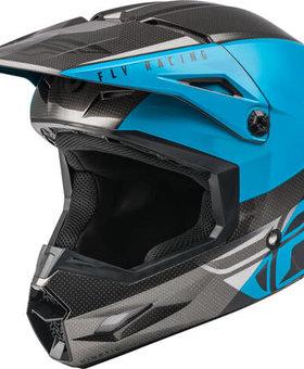 Fly Racing Fly Racing Kinetic Straight Edge Blue/Grey/Black Helmet