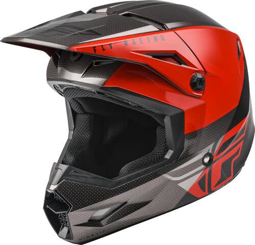 Fly Racing Fly Racing Kinetic Straight Edge Red/Black/Grey Helmet