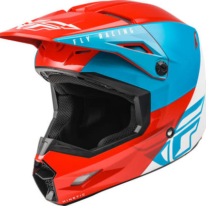 Fly Racing Fly Racing Kinetic Straight Edge Red/White/Blue Helmet
