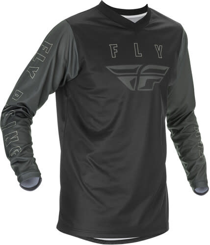 Fly Racing 2021 Fly Racing F-16 Adult Black/Grey Jersey