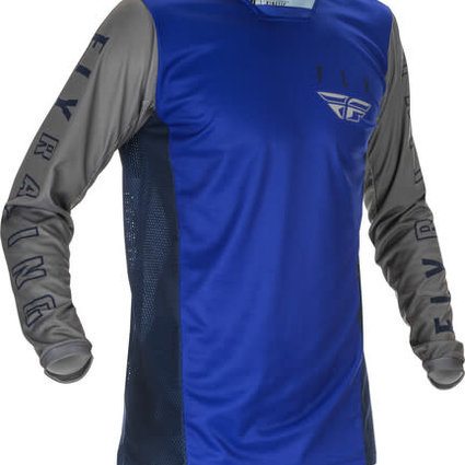 Fly Racing 2021 Fly Racing Kinetic K121 Youth Blue/Navy/Grey Jersey