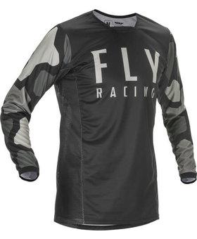 Fly Racing 2021 Fly Racing Kinetic K221 Adult Black/Grey Jersey