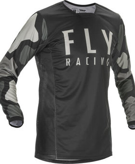 Fly Racing 2021 Fly Racing Kinetic K221 Youth Black/Grey Jersey