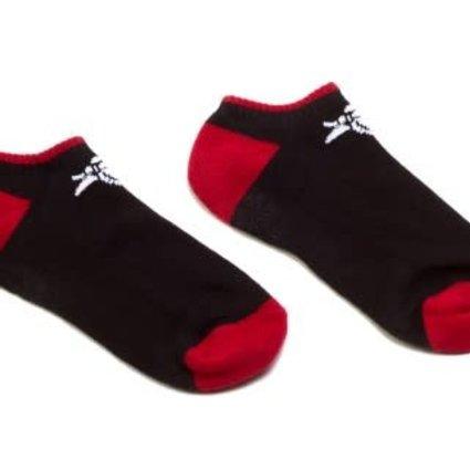 Animal Animal Crew Black/Red Socks (Low)