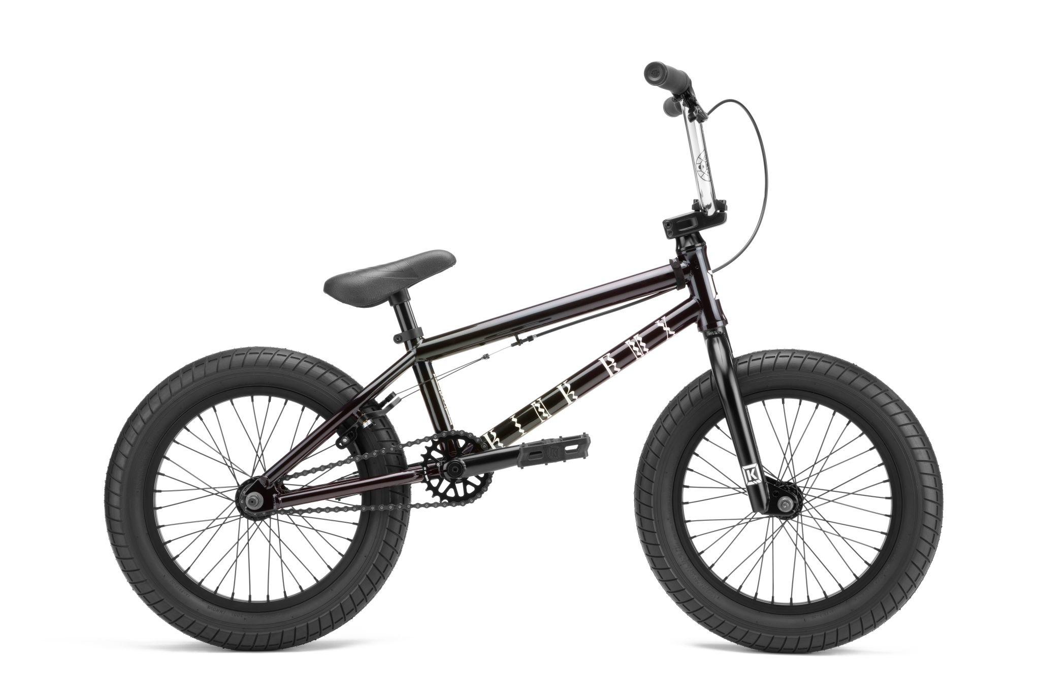 """Kink 2022 Kink Carve 16"""" Gloss Iridescent Black Bike"""