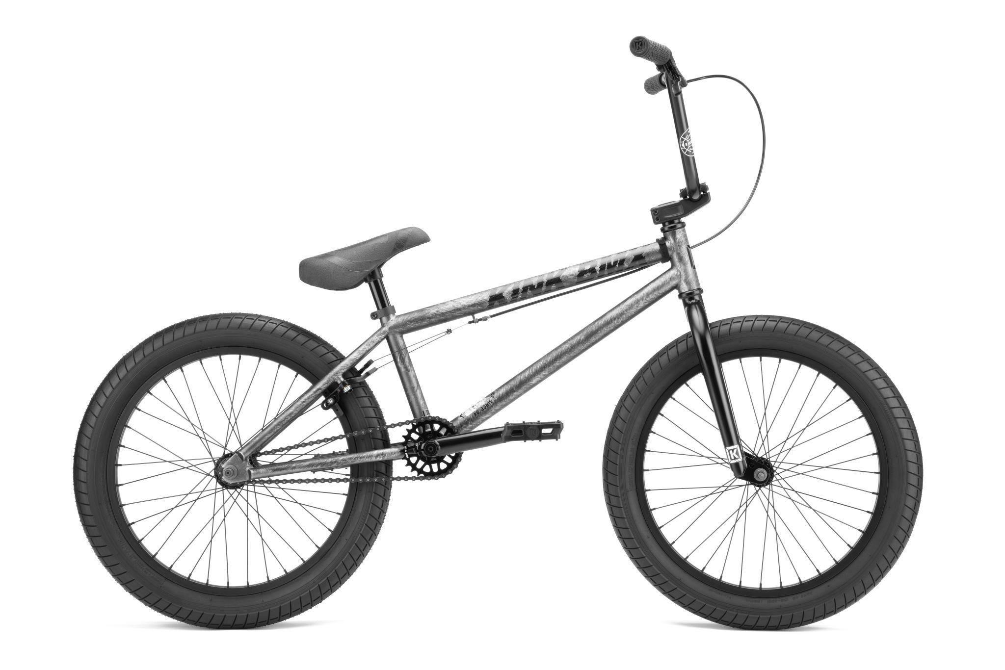 """Kink 2022 Kink Curb 20"""" Matte Brushed Silver Bike"""
