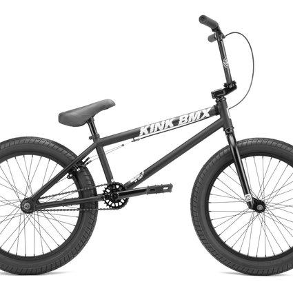 """Kink 2022 Kink Curb 20"""" Matte Midnight Black Bike"""