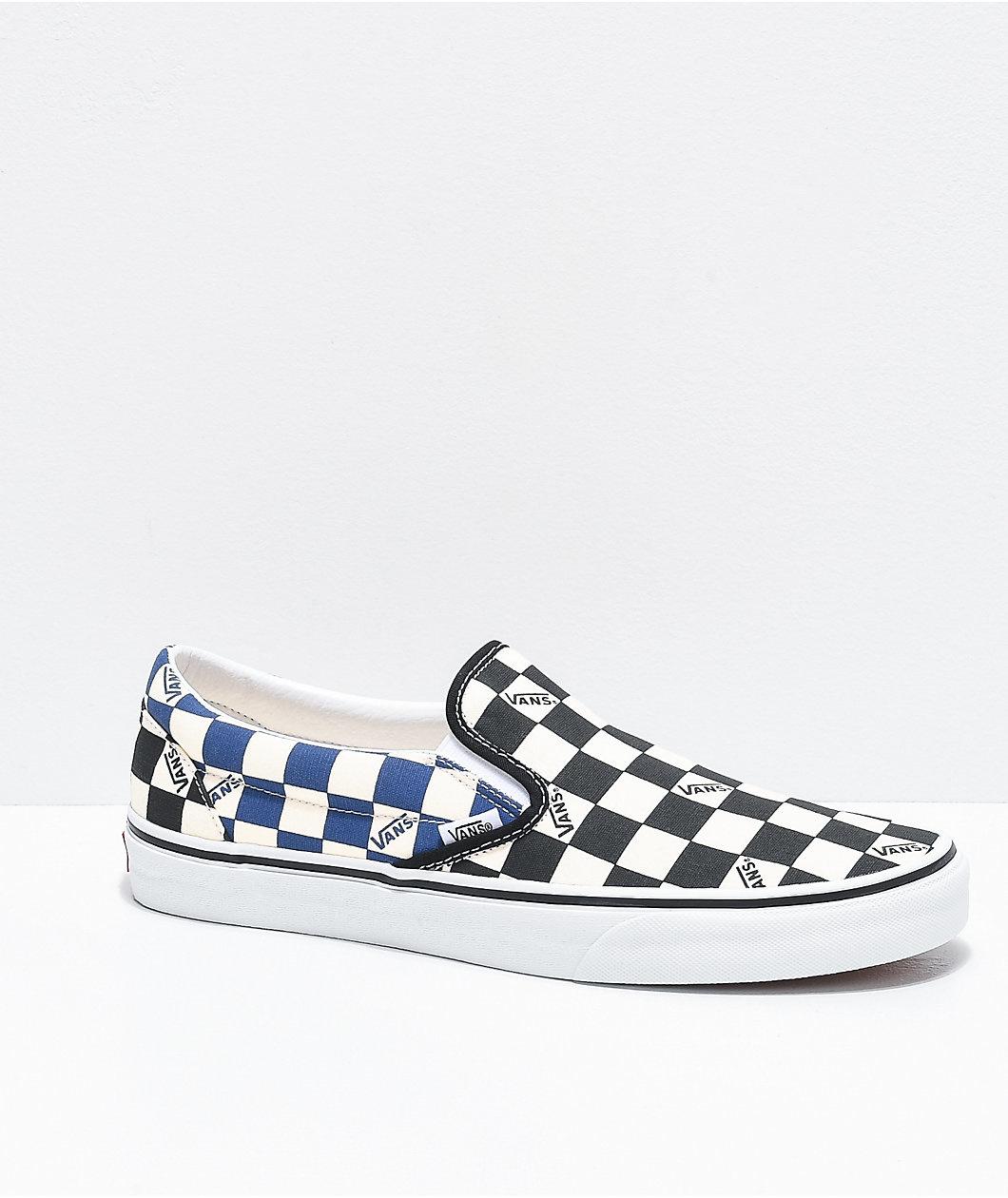 Vans Vans Slip-On Big Check Black/Navy Shoes