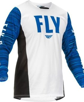 Fly Racing 2022 Fly Racing Kinetic Wave Adult White/Blue Jersey