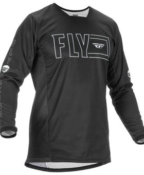 Fly Racing 2022 Fly Racing Kinetic Fuel Adult Black/White Jersey