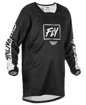 Fly Racing 2022 Fly Racing Kinetic Rebel Youth Black/White Jersey
