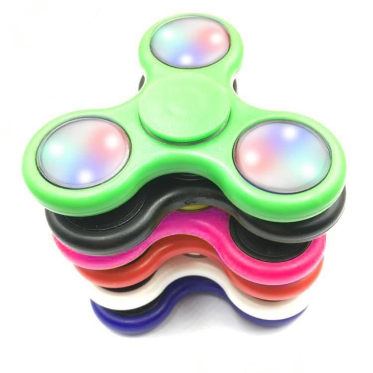 Fidget Fidget 3-Side LED Spinner White