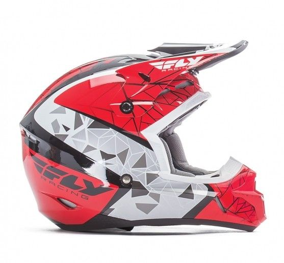 Fly Racing 2018 Fly Racing Kinetic Crux Red/Black/White Adult Helmet
