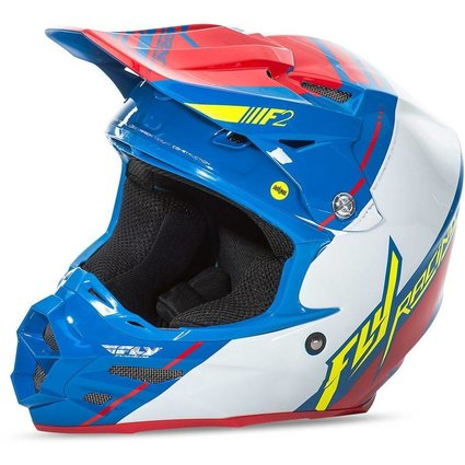Fly Racing 2017 Fly Racing F2 Carbon Mips Canard Replica Medium Helmet