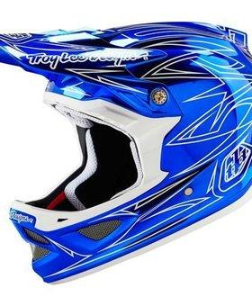 Troy Lee Designs Troy Lee D3 Composite Pinstripe 2 Blue Chrome Medium Helmet
