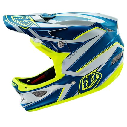 Troy Lee Designs Troy Lee D3 Composite Reflex Grey/Yellow Large Helmet