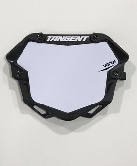 BMX 3D Ventril Number Pro Plate White Tangent
