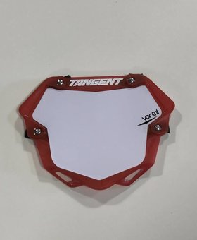 Tangent Products Tangent 3D Ventril Pro Trans Red Number Plate