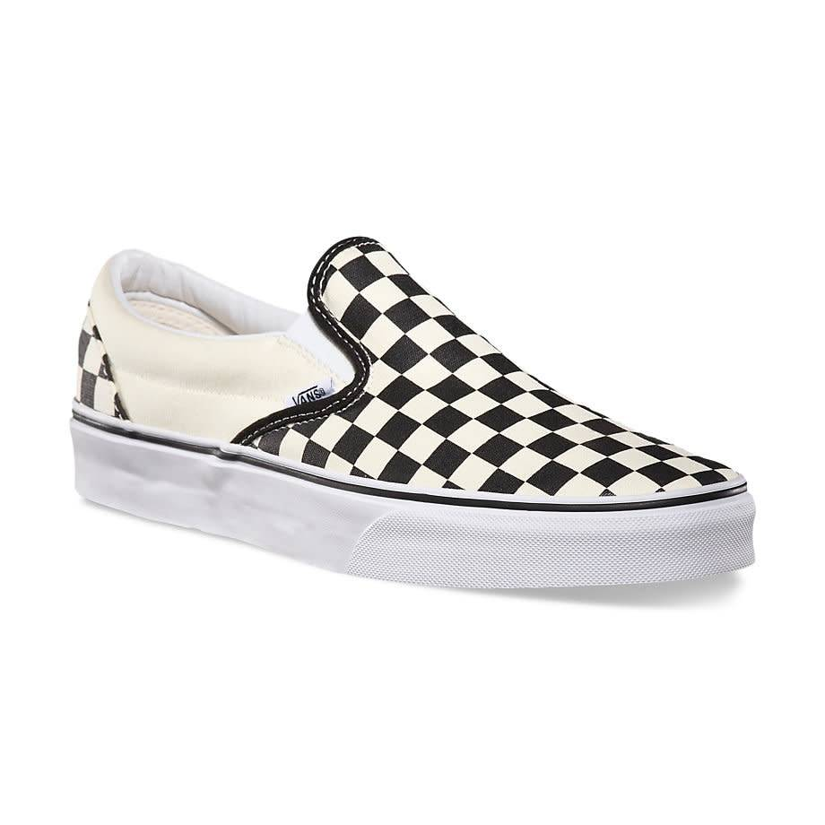 4e206b3d3df3 Vans Slip-On Black White Checkerboard Shoes - Gordy s Bicycles