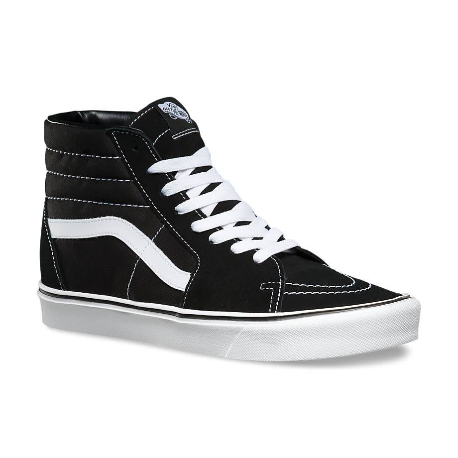 6a1780647f Vans SK8-HI Black White Shoes - Gordy s Bicycles