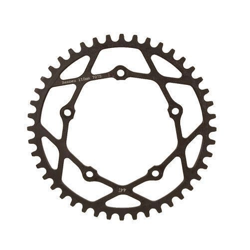 Rennen Rennen 5-Bolt Threaded 39T Black Chainring