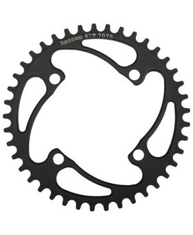 Rennen Rennen 4-Bolt Threaded 42T Black Chainring