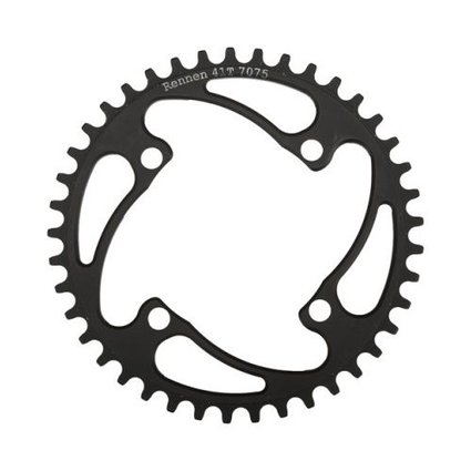 Rennen Rennen 4-Bolt Threaded 39T Black Chainring