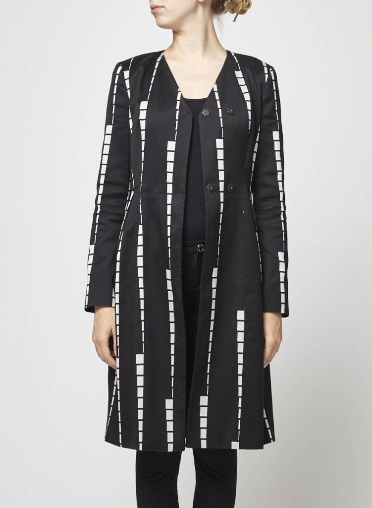 ETRO Solde - Manteau léger noir imprimés géométriques