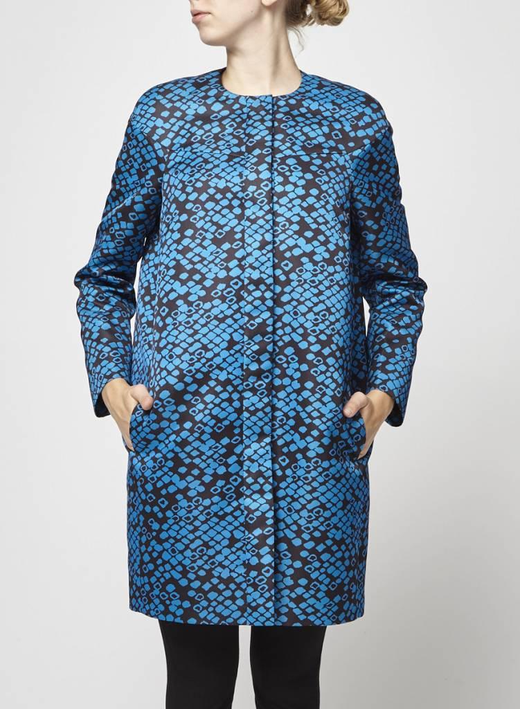 M Missoni Solde - Manteau noir moucheté bleu