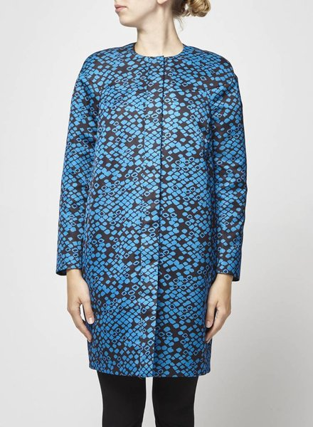 M Missoni MOTTLED BLACK AND BLUE COAT