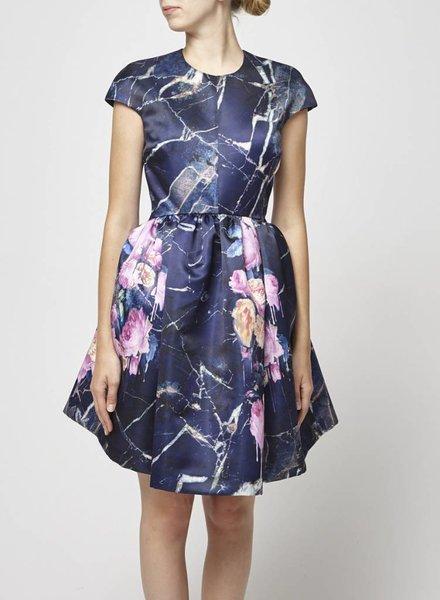 MSGM STRUCTURED BLUE DRESS