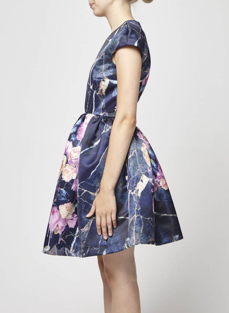 MSGM Structured blue dress