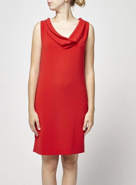Linda Allard Ellen Tracy SALE - LARGE COLLAR RED DRESS
