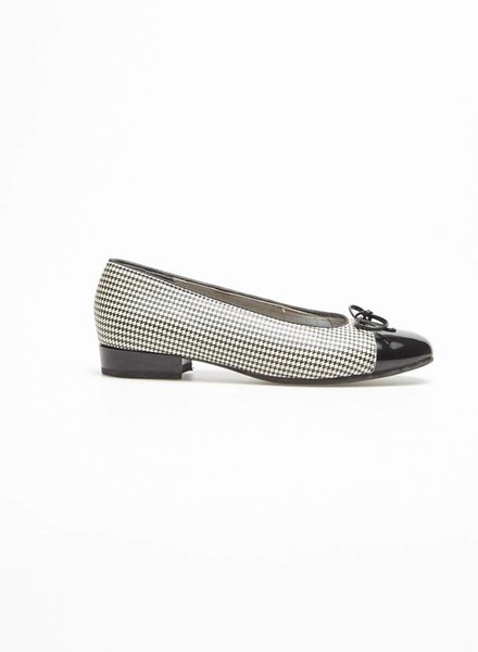Ara HOUNDSTOOTH LEATHER BALLET PUMPS
