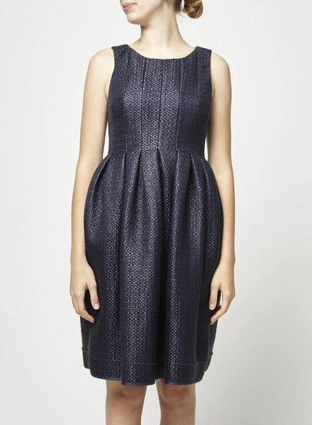 Orla Kiely NAVY TEXTURED DRESS