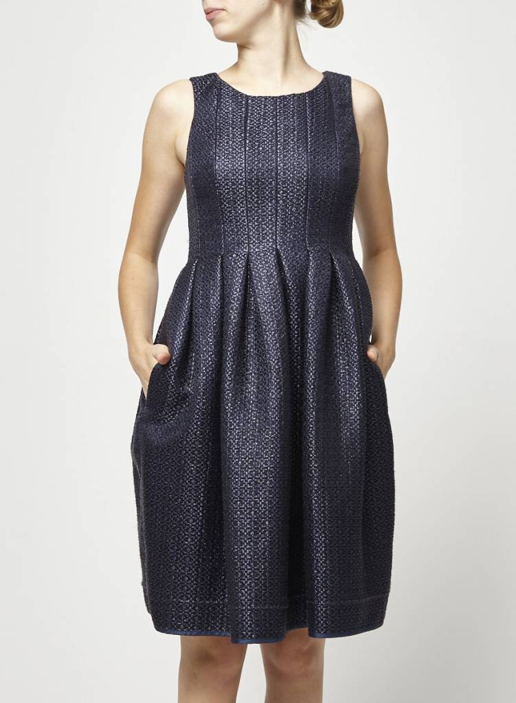 Orla Kiely Navy Textured Dress
