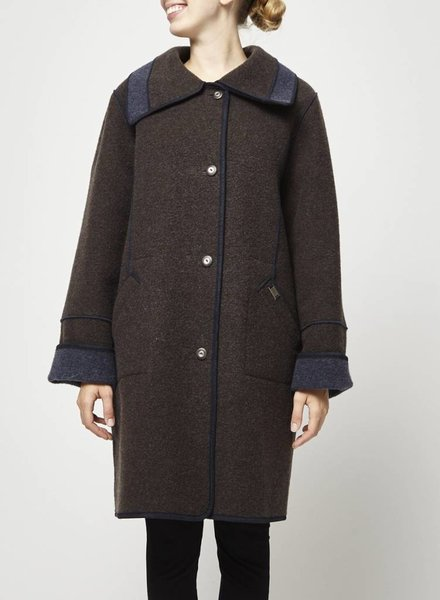 Epsilon Long woolen brown and blue coat