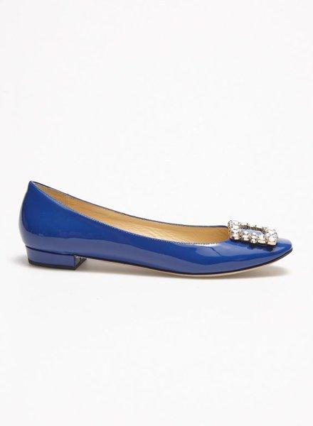 Kate Spade SALE - BLUE LEATHER BALLERINAS