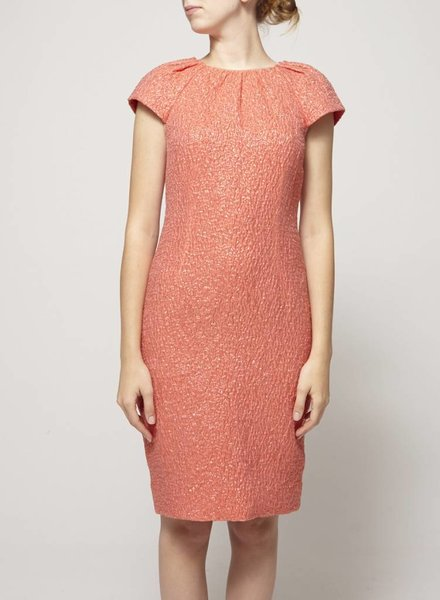 Lida Baday ON SALE - SHIMMERING SILK CORAL DRESS