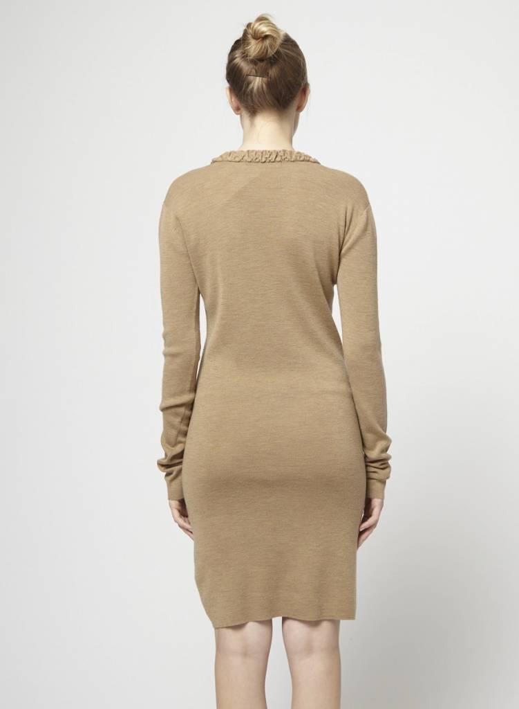 Balenciaga Solde - Robe de tricot taupe