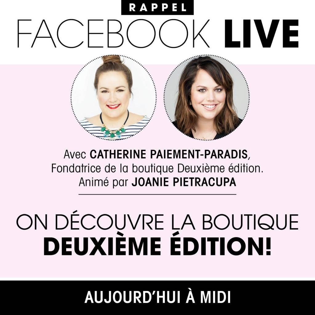 Facebook Live avec le magazine Véro!
