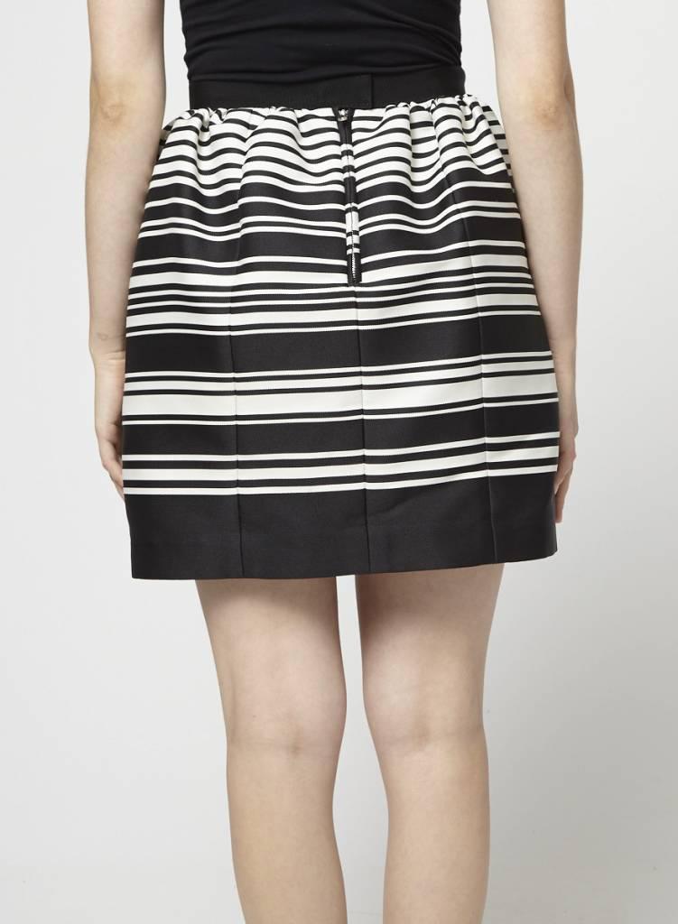Carven Black and White Striped Skirt