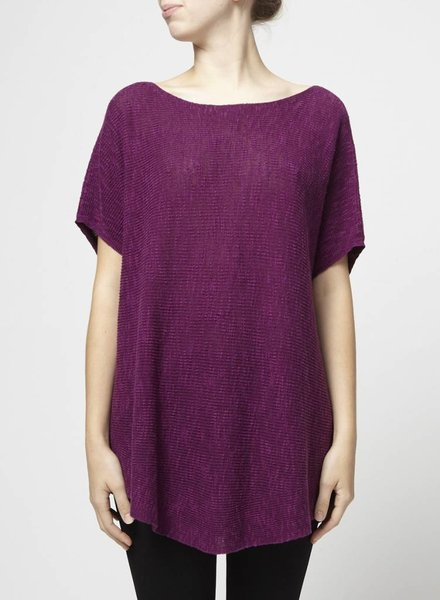 Eileen Fisher PULL EN TRICOT FIN MAUVE
