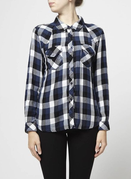 Rails BLACK AND BLUE PLAID SHIRT
