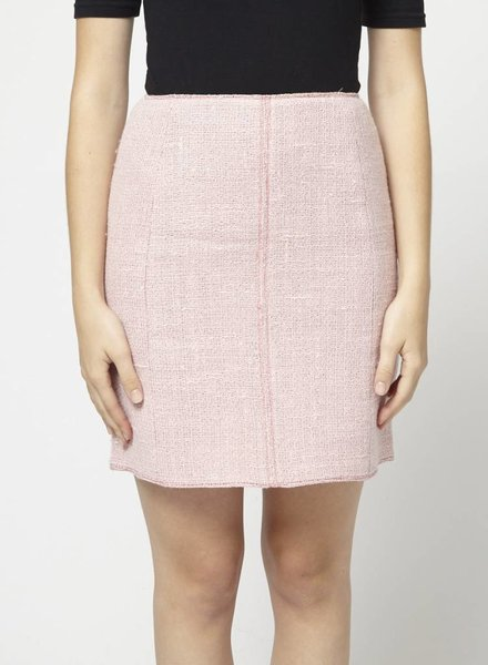 Anne Klein SALE - LINEN AND WOOL PINK SKIRT