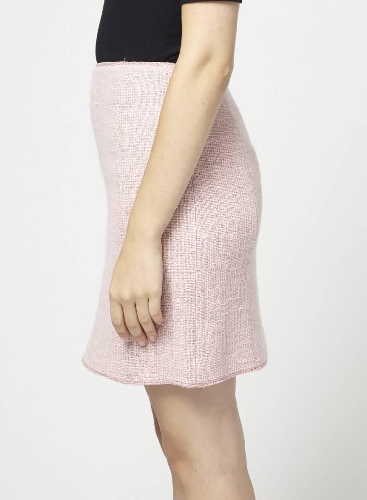 Anne Klein Sale - Linen and Wool Pink Skirt
