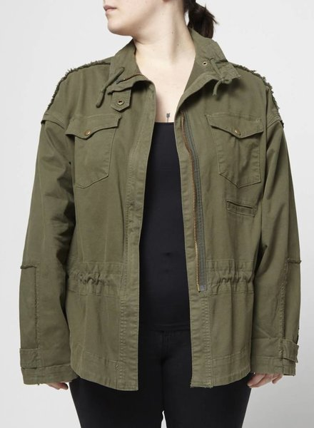 McGuire SALE - FOREST GREEN MILITARY STYLE COAT